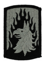 12th Aviation Brigade Patch Foliage Green (Velcro Backed)