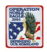 Operation Noble Eagle 2001 Patch Defending Our Homeland