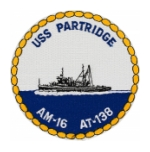 USS Partridge AT-138 Ship Patch