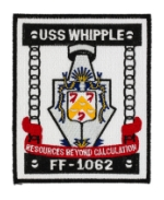 USS Whipple FF-1062 Ship Patch