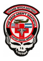228th Aviation Patch with Skull (The Dead Aren't Grateful) with Velcro