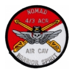 Nomad 4/3 Air Cavalry Regiment Warrior Spirit Patch (Dress)