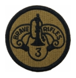 3rd Armored Cavalry Scorpion / OCP Patch With Hook Fastener