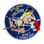 Bosnia SFOR 7 4/3 Air Cavalry Regiment Patch (Ride Hard Or Stay Home)