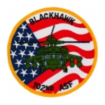 102nd Aviation Service Facility  Patch (Blackhawk)
