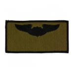 Air Force Pilot Wing Patch (Black On OD)