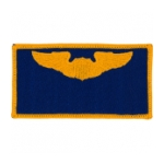 Air Force Pilot Wing Patch (Gold On Blue)