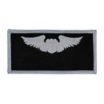 Air Force Pilot Wing Patch (Silver On Black)