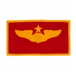 Air Force Senior Pilot Wing Patch (Gold On Red)