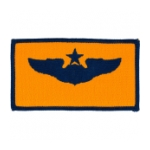 Air Force Senior Pilot Wing Patch (Blue On Gold)