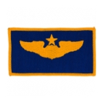 Air Force Senior Pilot Wing Patch (Gold On Blue)