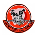 313th Tactical Fighter Wing Patch (Lucky 313th TAC. FTR. SQ)