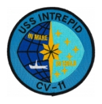 USS Intrepid CV-11 Ship Patch (In Mare In Coeld)