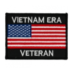 Vietnam Era Veteran Patch with American Flag
