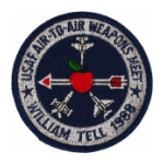 Air Force Air-To-Air Weapons Meet William Tell 1988 Patch
