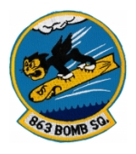 Air Force 863rd Bomb Squadron Patch