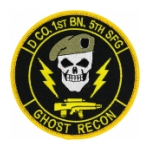 D Company 1st Battalion 5th Special Forces Group (Ghost Recon) Patch