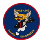 Scout Bombing Squadron Patch VMSB-243 Gold Bricks