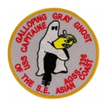 USS Capitaine AGSS-336 Patch Galloping Gray Ghost of the S. E. Asian Coast