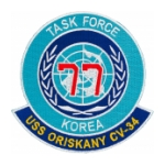 USS Oriskany CV-34/TF-77 Task Force Korea Ship Patch