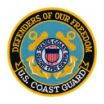 US Coast Guard Defenders Of Our Freedom Patch