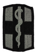 1st Medical Brigade Patch Foliage Green (Velcro Backed)