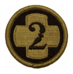 2nd Medical Brigade Scorpion / OCP Patch With Hook Fastener