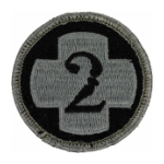 2nd Medical Brigade Patch Foliage Green (Velcro Backed)