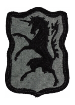 6th Cavalry Patch Foliage Green (Velcro Backed)