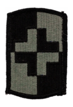 4th Medical Brigade Patch Foliage Green (Velcro Backed)