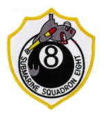 Navy Submarine Squadron 8 Eightball Patch