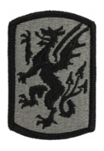 415th Chemical Brigade Patch Foliage Green (Velcro Backed)