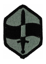 460th Chemical Brigade Patch Foliage Green (Velcro Backed)