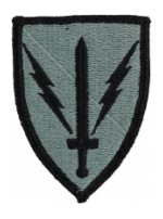 201st Military Intelligence Brigade Patch Foliage Green (Velcro Backed)