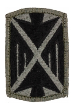 10th Air Defense Artillery Patch Foliage Green (Velcro Backed)