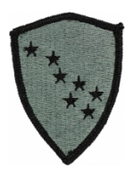 Alaska National Guard Headquarters Patch Foliage Green (Velcro Backed)