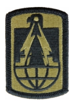 11th Signal Brigade Scorpion / OCP Patch With Hook Fastener