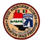 18th Airborne Corps Operation Iraqi Freedom Patch