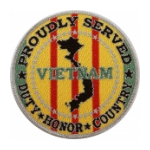 Proudly Served Vietnam War Veteran Gold Patch