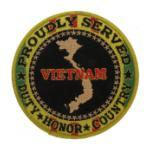 Proudly Served Vietnam War Veteran Black Patch