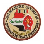 2nd Marine Division Operation Iraqi Freedom Patch