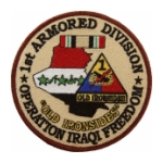 1st Armored Division Operation Iraqi Freedom Patch