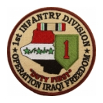 "1st Infantry Division Operation Iraqi Freedom Patch ""Duty First"