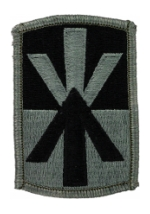 11th Air Defense Artillery Patch Foliage Green (Velcro Backed)