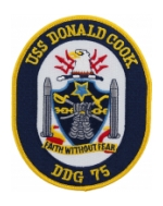 USS Donald Cook DDG-75 Ship Patch