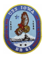 USS Iowa BB-61 Ship Patch