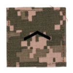 Army ROTC Private with Velcro Backing (Digital All Terrain)