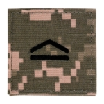 Army ROTC Private First Class with Velcro Backing (Digital All Terrain)