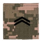 Army ROTC Corporal with Velcro Backing (Digital All Terrain)