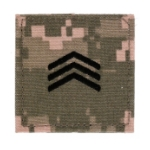 Army ROTC Sergeant with Velcro Backing (Digital All Terrain)